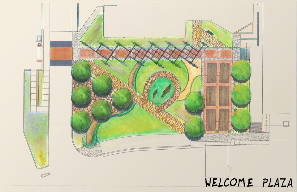 welcome plaza sketch